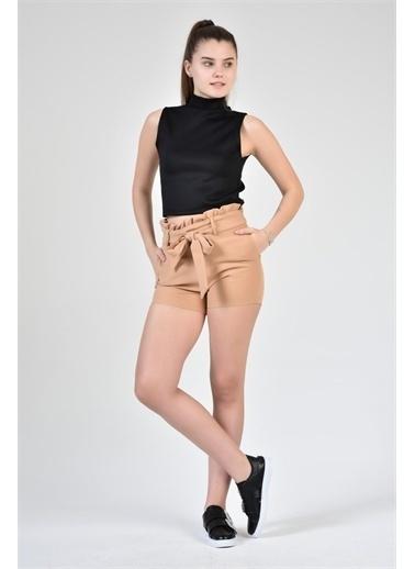 Rodi Jeans Kadın Pileli Kumaş Şort DS21YB144081 Kahve
